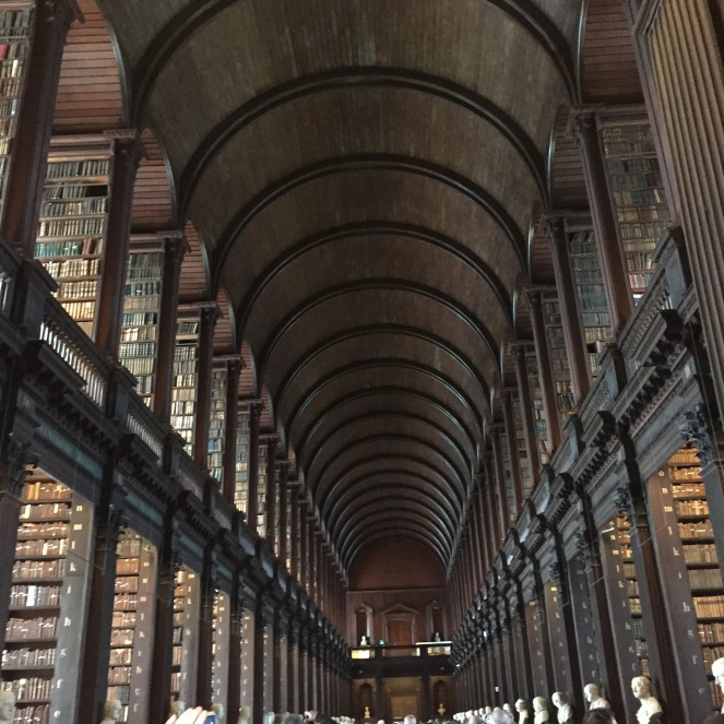 Inside Trinity College's old library.