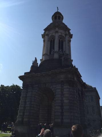 Bell tower at Trinity College. There is a myth, if a current student walks under while the bell rings, they will fail their exams.