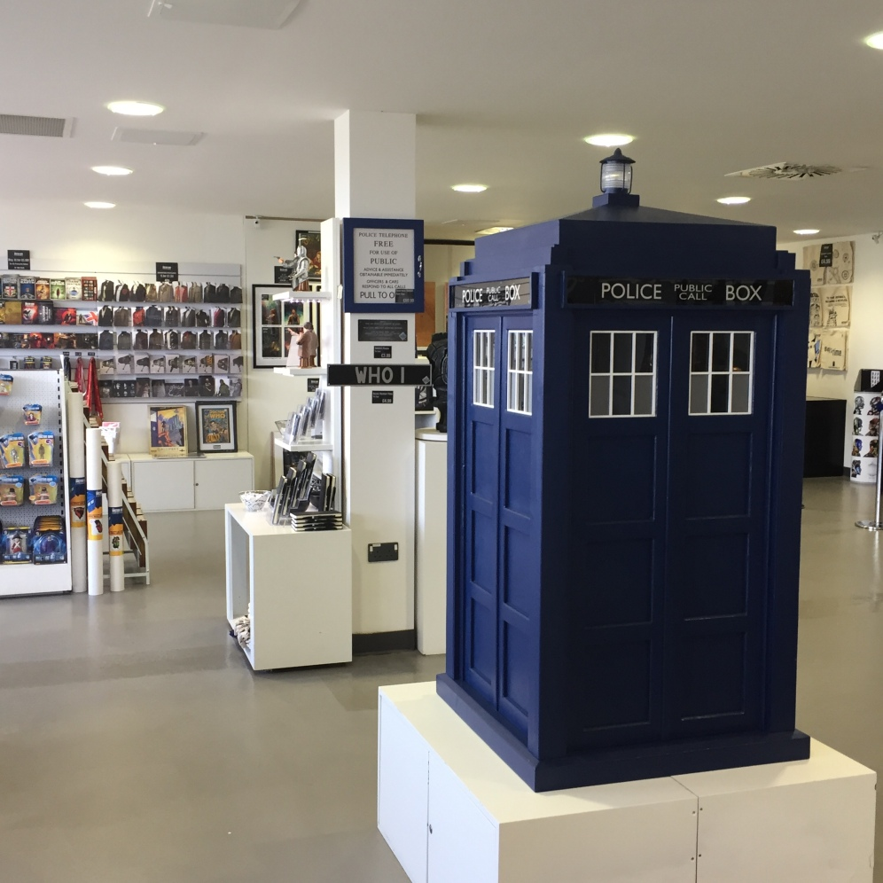 The gift shop/exit of the Doctor Who Experience