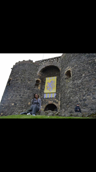 Me in front of another one of the castles