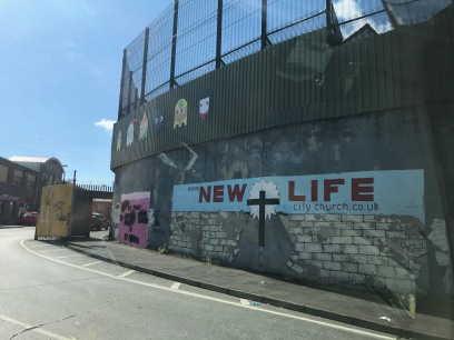 Then peace wall From the Protestant side