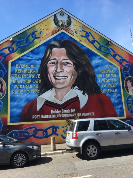 Mural on building of Bobby Sands