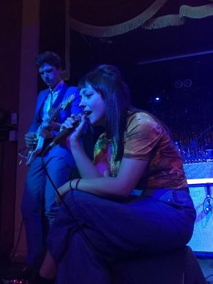 Angel Olsen serenading the crowd during her concert in Belfast.