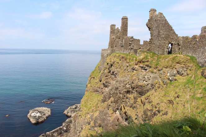 Dunluce Castle that is used for House of Greyjoy in the popular HBO series Game of Thrones.