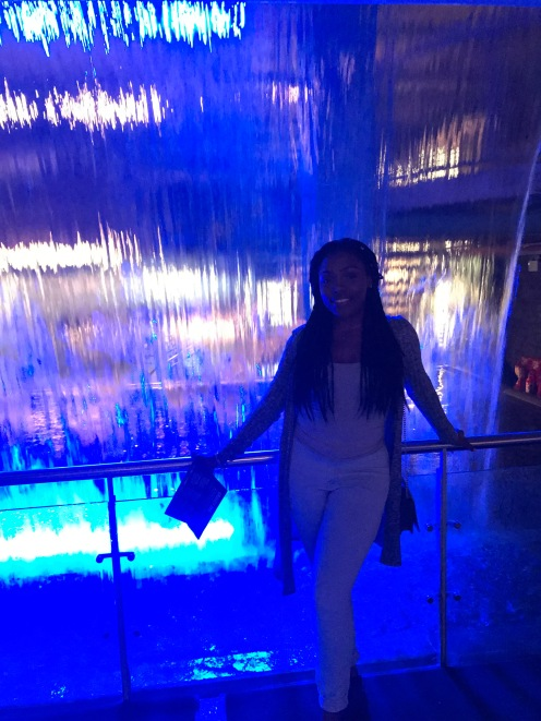Me and the water fall at the Guinness factory.