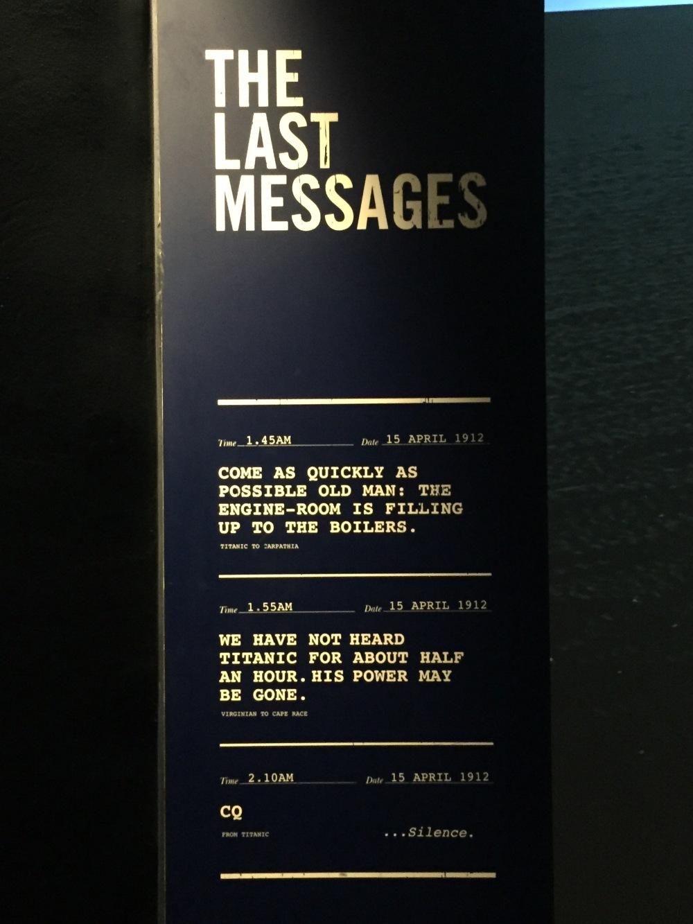 last messages