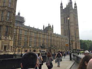The exterior of the Palace of Westminster.