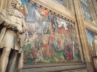 A mural in St. Stephens' Hall, which is in the House of Commons.