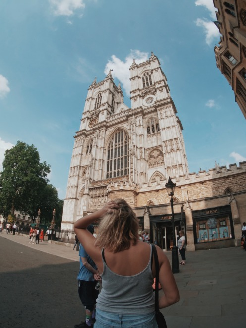 Me in front of Westminster Abbey (Rohan Makhecha)