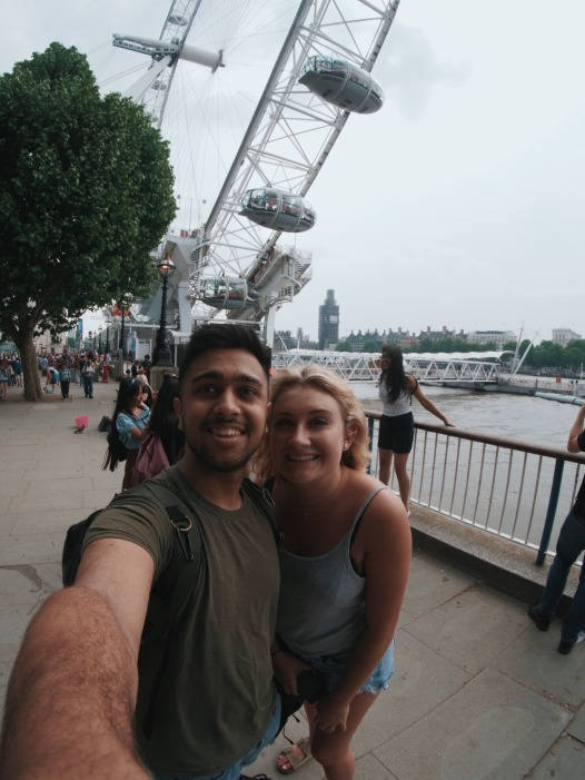 Rohan and I in front of the London Eye (Rohan Makhecha)