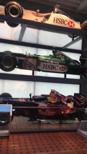Three F1 cars from the late 90's to mid 2000's. F1 remains Scotland's most popular motorsport.