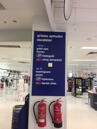 A sign at Boots