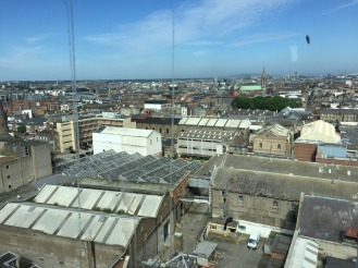 The view of Dublin from the top floor of the Guinness factory