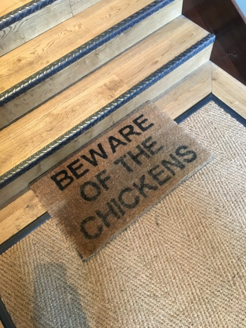 BEWARE: Chickens Ahead