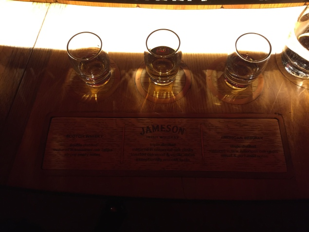 The whiskey taste test at Jameson
