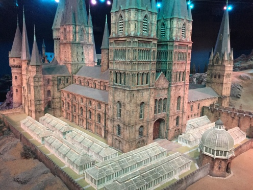 The model castle that was used in filming