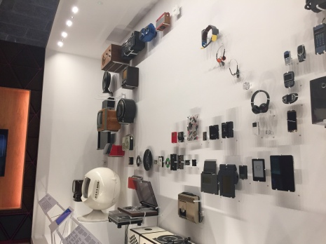 The exhibit on music technology