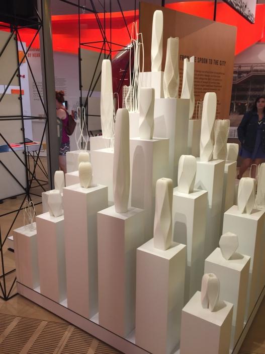 The Zaha Hadid exhibit