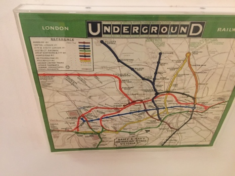 The tube map before Beck, when it was geographically accurate. It's a lot harder to read.