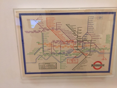 The tube map after Beck's design. The current one looks a little different.