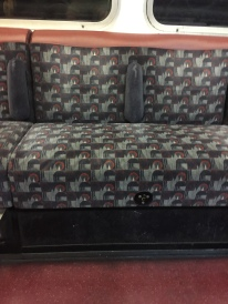 The brown strip on the Bakerloo couches.