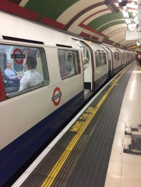 Most underground trains I saw were gray, but the one I captured in this photo happened to be white.