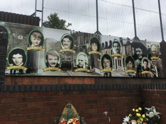 Fallen Irish-Catholics in the wars remembered at the wall.