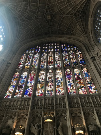 Stained Glass in King's College Chapel (Courtney Kellogg)